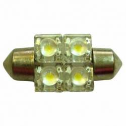 BULB ROOF LED 12V SV8.5 10X36 4LED WHITE BLIST 2U