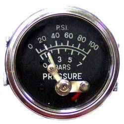 GAUGE OIL PRESSURE MEC 0-7 BAR 0-100 PSI 52mm WO-PIPELINE