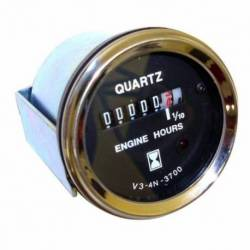 GAUGE HOURS COUNTER DC W-LED 52mm 10-28V CHROME