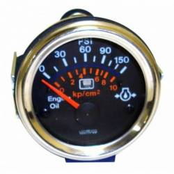 GAUGE OIL PRESSURE W-LED WARING 52mm CHROME