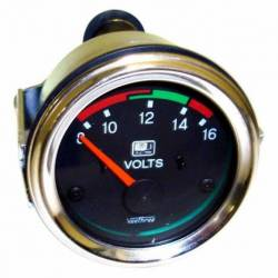 GAUGE VOLT 8-18V W-LED WARING 52mm CHROME