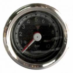 GAUGE AIR PRESSURE MECHANICAL 60mm 0-10 BAR CHROME