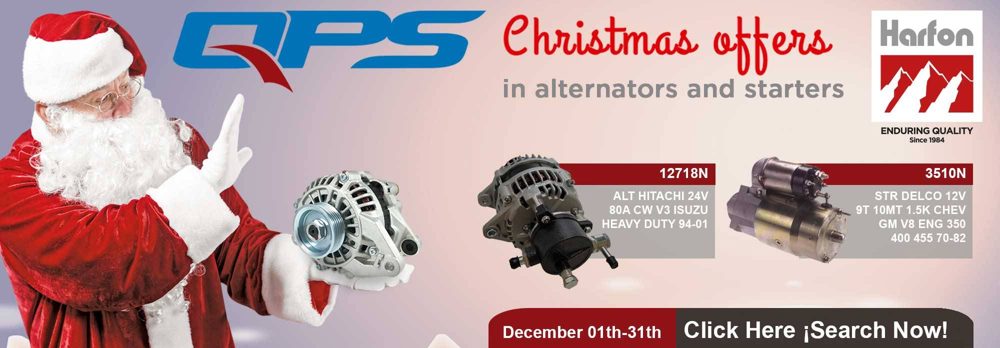Christmas Offers in Alternators and Starters