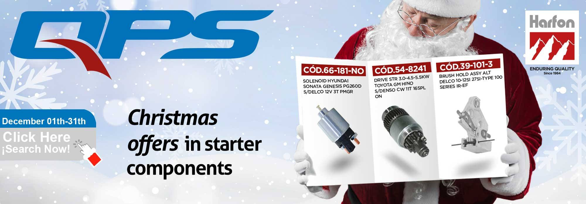 Christmas Offers in Starter Components